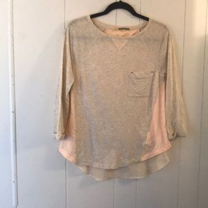 anthro LITTLE YELLOW BUTTON chambray blouse small